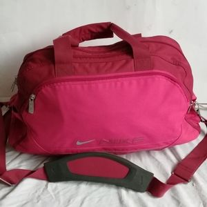 Nike Pink & Red Duffel Gym Overnight Bag